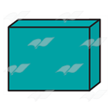 Teal 3-D Rectangle