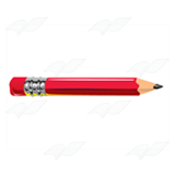 Shiny Red Pencil