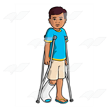 Boy with Crutches
