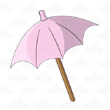 Pink Beach Umbrella