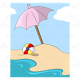 Umbrella and Beach Ball
