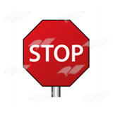 Stop Sign on Post
