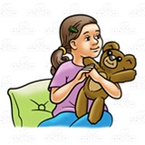 Girl Holding Teddy Bear