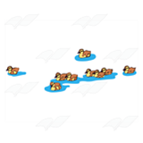 Nine Brown Ducklings