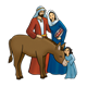 Bible Times Family with donkey