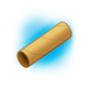 Cardboard Tube with blue background