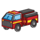 Fire Truck with yellow stripe