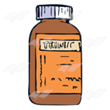 Brown Medicine Bottle