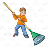 Boy with Rake