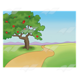 Apple Tree and Path