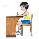 Boy Working at Desk