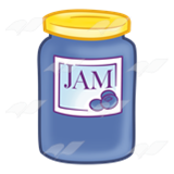 Blueberry Jam Jar