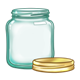 Empty Glass Jar with lid