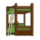 Wooden Bunk Bed with ladder