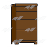 Tall Brown Dresser