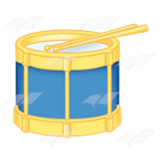 Blue and Yellow Drum