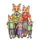 Red Fox Family everyone