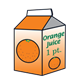 Orange Juice Carton 2 1 pint