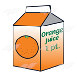 Abeka | Clip Art | Orange Juice Carton 1—1 pint