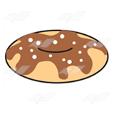 Brown Frosted Doughnut
