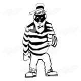 Robber in Striped Shirt