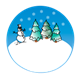 Snow Globe with trees and snowman