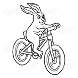 Bunny Riding a Bicycle