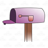 Empty Purple Mailbox
