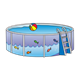 Pool  beach ball, ladder, fish-wave pictures on side