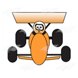 Orange Racecar