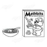 Mathbits Cereal Box