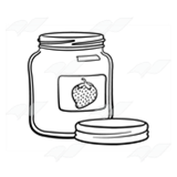 Empty Strawberry Jam Jar
