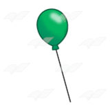 One Green Balloon