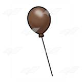 One Brown Balloon
