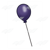 One Purple Balloon