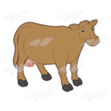 Standing Brown Cow