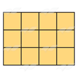 Yellow Block Shape 2