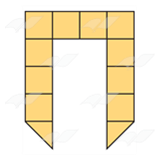 Yellow Block Shape 4