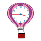 Hot Air Balloon Clock pink, purple