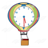 Hot Air Balloon Clock