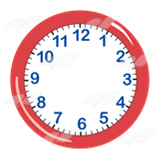 Abeka   Clip Art   Red Clock—without hands