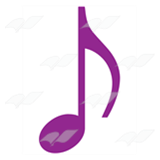 Purple Eighth Note