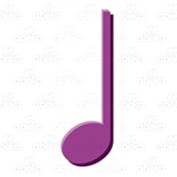 Purple Quarter Note