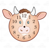 Cow Face Clock