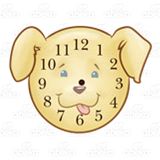 Dog Face Clock
