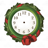 Wreath Clock