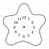Brown Starfish Clock
