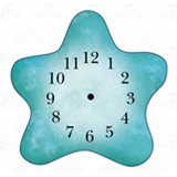 Blue Starfish Clock