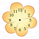 Orange Flower Clock