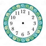 Ocean Waves Clock